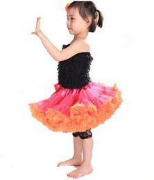 Laranja tutu saia menina on-line-Bebê Chiffon Pettiskirts Fofo TuTu Princesa Saias Ballet Dance Wear Traje Do Partido Do Bebê Menina Vestir Framboesa Laranja Pettiskirt M003