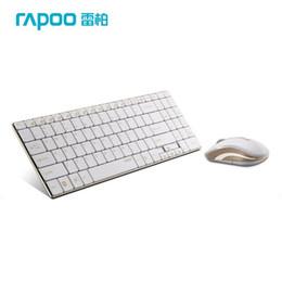 Wholesale Ergonomic Mouse Rapoo - Wholesale-Rapoo 9160 Gold Series Wireless Optical Keyboard & Mouse Combos, Super Thin Ergonomic Keyboard Mouse for Laptop PC Games