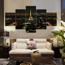 pannelli a torre eiffel Sconti Cuadros Decorativos 5 Pannello di Torre Eiffel a olio stampata pittura olio su tela dipinto casa Arte Immagine
