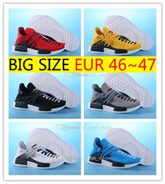Wholesale Drop Shipping Buying - Pharrell Williams NMD HUMAN RACE shoes for Mens Womens In Black,White,Yellow,Green,Blue,White and Grey buy cheap Drop Free Shipping 36-47