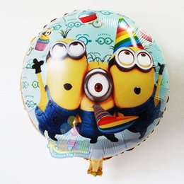 Wholesale Despicable Inflatable - HOT selling 50pcs lot Despicable Me foil balloons minions ballon birthday minion party supplies cartoon inflatable classic toys