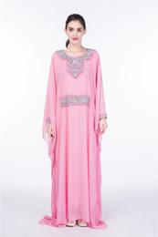 Wholesale wholesale muslim clothing - omen Embroidery long sleeve muslim abaya dress gown Dubai moroccan Kaftan Caftan Islamic abaya clothing Turkish arabic dress free DHL