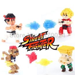 Wholesale Ken Block Plastic - 2015 New Arrive Street Fighter 4 Styles Model Ken Ryu Guile Action Figure Toy kid diamond nano block plastic building blocks