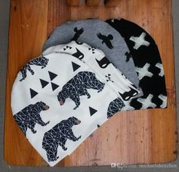 Wholesale Crochet Tiger Hat - 8 Design Baby Boys Girl INS purified cotton hats 2016 NEW children fashion cartoon INS Bat fox panda tiger hat B