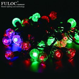 Wholesale used outdoor christmas decorations - Wholesale- string lights Waterproof Christmas Lights Outdoor and Indoor Use Ideal for Wedding Party Garden Patio Lights Decoration