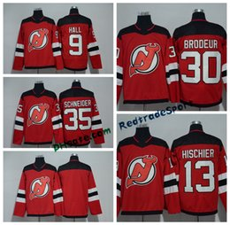 Wholesale Hockey 13 - 2018 AD New Jersey Devils 9 Taylor Hall 30 Martin Brodeur 35 Cory Schneider 13 Nico Hischier 6 Andy Greene 14 Adam Henrique Hockey Jerseys