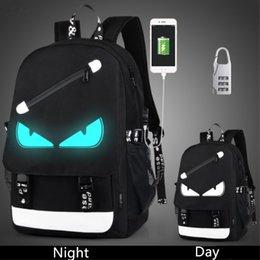 Wholesale Wholesale China Backpack - Anti Theft backpack USB charging Men Laptop Backpacks For Teenagers Female Mochila Travel backpack School bags Luminous Backpack