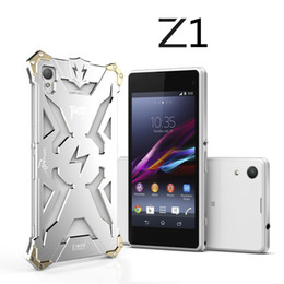 Wholesale Phone Z1 - Sony Xperia Z1 Z2 Z3 Z4 Original Design Armor Heavy Dust Metal Aluminum THOR IRONMAN protect phone case cover