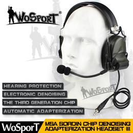 Auriculares comtac online-WoSporT Nuevo auricular táctico Reducción de ruido Cancelación de la recolección de sonido electrónico Comtac II para radios bidireccionales Paintball auriculares tácticos