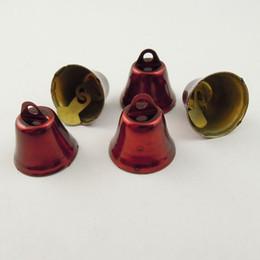 Paquetes de encantos rojos online-Nueva Moda 80PCS / Pack Rojo Pequeñas Campanas Con Sonido Colgante de Acero Joyería Del Encanto Encontrar 16 * 16 * 11mm 36843 fabricación de joyas, venta caliente de DIY