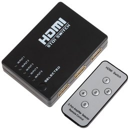 Wholesale Headphone Limited - HDMI Switcher Limited Special Offer Adapter Headphones free Dhl Mini 5 Port 1080p Video Hdmi Switch Switcher Splitter with Ir Remote