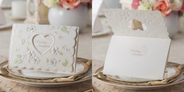 Wholesale Nature Print Paper - New arrival printed 2015 wedding invations cards Ivory blank inside paper Customized zed flat card high quality free shipping