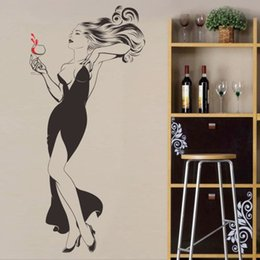 Wholesale Black Red Modern Abstract - marilyn monroe poster new design big size modern and sexy lady with red wine wall sticker or collage for indoor decoration