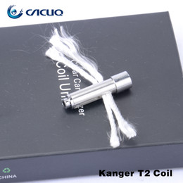 Wholesale Replacement Coils Wicks - 100% Original Kanger t2 Atomizer Replacement Coil Head for Kangertech t2 Genuine Kanger T2 Coil with Long Wick
