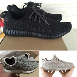 Wholesale Fashion Footwear Shoes - Discount Kanye West 350 boost 350 pirate black Outdoors Sports Running Shoes fashion men Footwear women sneakers free shipping with box DHL