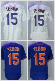 Chaude # 15 Tim Tebow 2017 New York Hommes Tous Brodé Broderie Baseball Jersey S-XXXL Rapide Livraison Gratuite ? partir de fabricateur