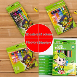 Wholesale Pencils Art - PrettyBaby wooden colored pencils coloring pencils for coloring books color drawing pencils sketch paintings 12 colors free shipping