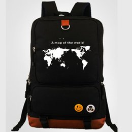 Wholesale Map Cool - A map of a world backpack Cool daypack Street schoolbag Casual rucksack Sport school bag Outdoor day pack
