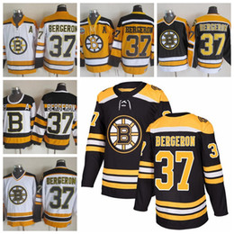 Wholesale Bruins Throwback - Mens Boston Bruins Hockey Jerseys 37 Patrice Bergeron 2016 Winter Classic Black 75 Anniversary Patrice Bergero Throwback CCM Jersey A Patch