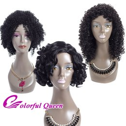 Wholesale Cheap Braided Wigs - Short Synthetic Curly Bob Wigs for Black Women Afro Kinky Curly Synthetic Black Wigs for African American Women Cheap Braided Curly Wig