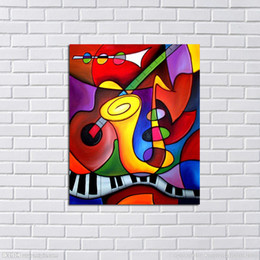 Wholesale Home Oil Sticker - Handpainted Wall Pictures Abstract Modern Art Oil Painting on Canvas Wall Stickers Home Decorative Oil Paintings