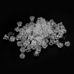 Wholesale Wholesale Rubber Grommets - Wholesale-100 PCS Clearn Rubber Grommets Nipples Tattoo Machine Needles Supplies