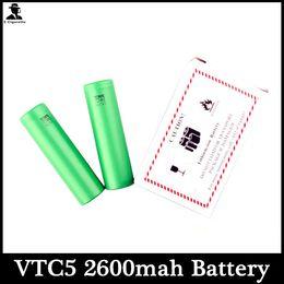 Canada 2015 Date haute batterie sèche vert VTC5 2600MAH US18650 L-lion batterie 3.7V 30A adapter à toutes les cigarettes électroniques Mods mécaniques Offre