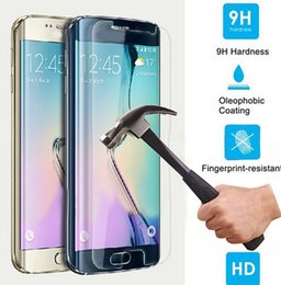 Wholesale Glass Galaxy S - High Quality 0.26mm 9H 2.5D Real Tempered Glass Film Front Screen For Samsung Galaxy S6 S6 Edge NOTE 5 iphone 5s 6 s 6s Plus S7