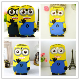 Wholesale Despicable S4 Case - Wholesale-For Samsung Galaxy s2 S3 Neo Duos S4 S5 S6 mini i8190 i9190 G355H G7106 i9060 note 2 3 4 silicon Rubber Despicable Me Case Cover