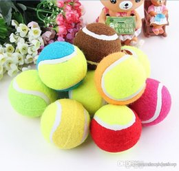 Wholesale Dog Activity Ball - Hot Selling! Best dog chew toys tennis ball polychromatic 7cm outdoor activity training ball Dog toy
