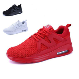 Wholesale Korean Model Male - explosion models 2017 Korean sports shoes breathable fabric male fly running shoes size shoes