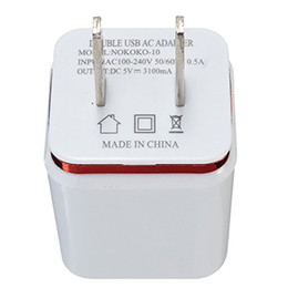Wholesale Smart Dock Galaxy - Top Quality 5V 2.1+1A Double USB AC Travel US Wall Charger Plug Dual Charger For Samsung Galaxy HTC Smart Phone Adapter