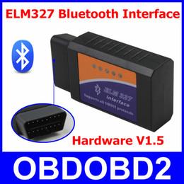Wholesale Supports Obd2 Protocols - Best Hardware V1.5 ELM327 Bluetooth Scanner ELM 327 OBD2 Diagnostic Tool OBDII Interface Supports All OBD II Car Protocols
