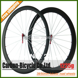 Wholesale Tubular Race Wheels - Wholesale-Only 1225g ultra light 38+50mm tubular carbon bicycle wheels 700c carbon fiber road bike racing wheelset