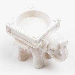 Wholesale Tea Lights Sale - 2015 Hot Sale Cute Lucky Resin Elephant Tea Light Candle Holder Bridal Wedding Home Decor Gift Drop Shipping