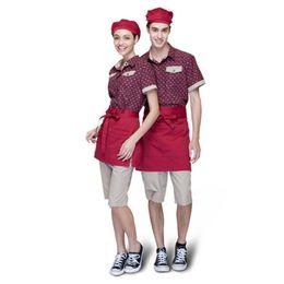 Wholesale Shirt Waiter - Wholesale-Hot Chef Clothing 2015 Waiter Shirt New Summer Waiter Clothes Short Sleeve Custom Personalized Print Embroidery Free Shipping