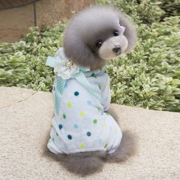 Wholesale Pet Flannels - Pet Clothes Lovely Printing Soft Coat Puppy Dog Durable Pajamas Winter Apparel Flannel Pajamas Soft Puppy Supply JJ0611