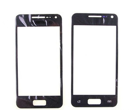 Wholesale S Advanced - Wholesale-New Front Outer Screen Glass Lens For Samsung Galaxy S Advance GT-i9070 i9070 Front Glass Black Color +Free Tools