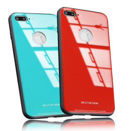 Wholesale Back Bumpers - New For iPhone X 8 Plus Ultra Thin Tempered Glass Back Phone Cases Cover Gel Bumper Original Color Shockproof For iPhone 6 7