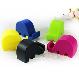 Wholesale Elephant Phone Stand - 100Pcs Universal Portable Elephant Phone Holder Mobile Cell Phone Stents pop Stand sockets for iphone 8 x 6s 5 7 plus note 8