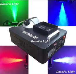 Wholesale Smoke Machine Dmx - Wholesale- DunFly DuanFei Light 2pcs lot Remote 24x3W 1500W LED smoke machine RGB Professional stage dj equipment dmx 512