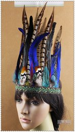 Wholesale Burlesque Hats - feather Headdress Burlesque hat dancing burlesque headdress halloween supply dancing supply 8 inch full high costume supply