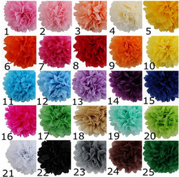 Wholesale Hanging Paper Flower Decorations - Wedding party home Decoration Paper Peony Flower ball hanging flower ball wedding car decor 25 color to choose