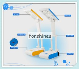 Wholesale Portable Folding Reading Table - 50pcs free shipping to USA UK Canada New LED Portable Folding Lamp Battery Desk Table Home Study Reading Foldable led table Light lamps