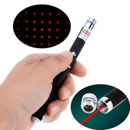 Wholesale Starry Sky Laser - Pen Shaped Adjustable Starry Sky Star Cap 5mW 650nm Red Laser Beam Pointer Pen for Sale Teaching Training L0403