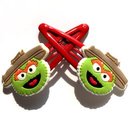 Wholesale Sesame Street Jewelry - Lovely Sesame Street Girl' s Cartoon Hair Accessories Hairpins Gilrs Hair Clips Kids Party Favor Gifts Hair Jewelry