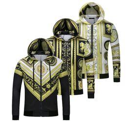 Wholesale Designer Sweaters Hoodies - Italy Designer 2018 autumn winter casual men hoodies sweatshirts printing hooded sweatshirt jacket men Medusa sweater