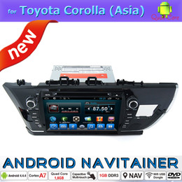 Wholesale Toyota Corolla Bluetooth Stereo - Android Car Audio Video Player in Car DVD Radio for Toyota Corolla 2013 2014 2015 Asia Version with Bluetooth Gps Navigation RDS Stereo