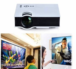 Wholesale Tv Projector For Video Games - UC40 Mini Projectors LCD LED Pico Portable Proyector with VGA HDMI For Video Games TV Movie Home Theater Beamer Multimedia UC28
