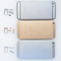 Brand New métal logement de la batterie porte arrière couverture cas pour iPhone 5 5S remplacer pour iPhone 6 mini or gris argent ? partir de fabricateur